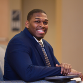 Elijah Davis, a Delaware Valley University alumnus who earned both his bachelor's and MBA through DelVal.