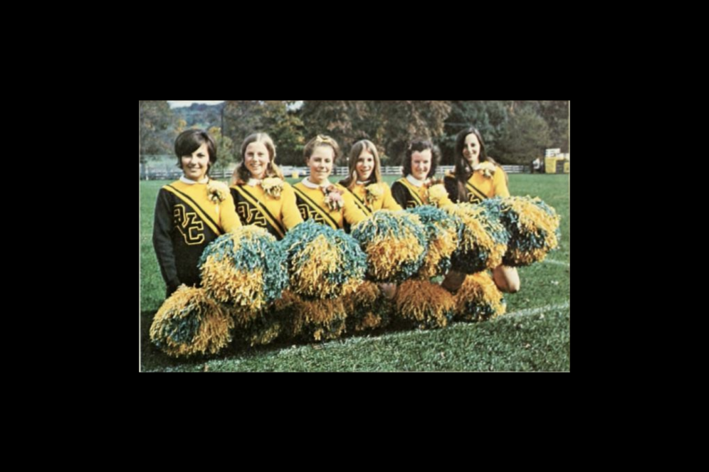 Aggie cheerleaders of 1972