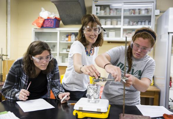 Students in DelVal's food research testing laboratory