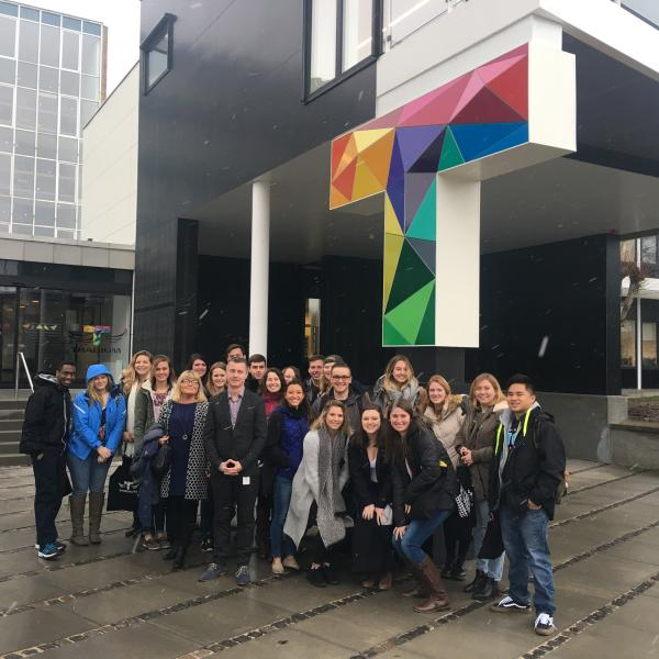 Delaware Valley University students visit Tradium in Denmark.