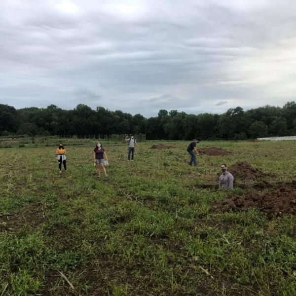 Soil Judging club out in the field