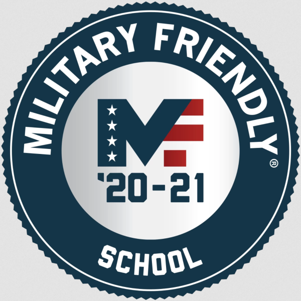 The graphic circular emblum awarded to military friendly schools. DelVal is a military friendly school.