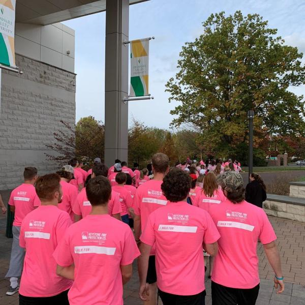 Pine2Pink, breast cancer walk.