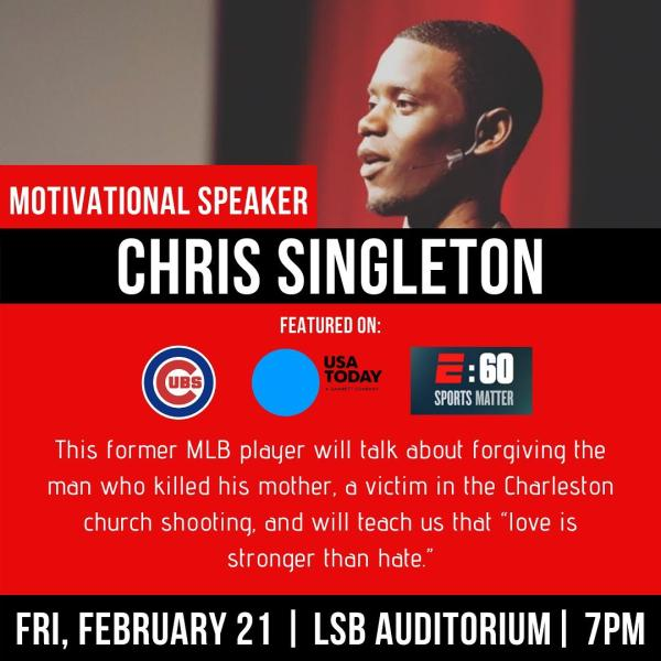 Inspirational Speaker and former Chicago Cubs player Chris Singleton