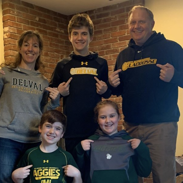 DelVal Family hold a spirit day at home