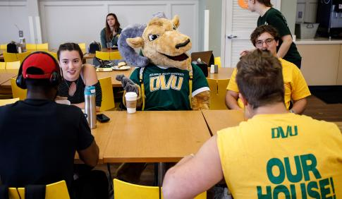 Students gather for a meal in the Delaware Valley University Dining Hall.