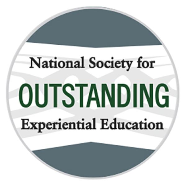 "An ""Outstanding"" badge from the National Society for Experiential Education"